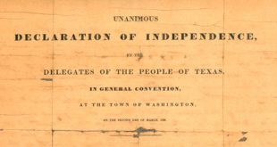 Documento de la Independencia de Texas