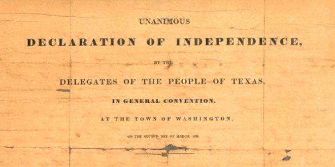 Documento de la Independencia de Texas