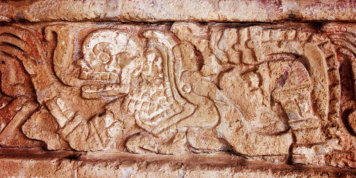 Friso en Tula de la cultura Tolteca
