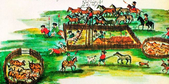 La ganadería en el virreinato de Nueva España