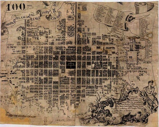 Mapa de la Ciudad de México en 1753