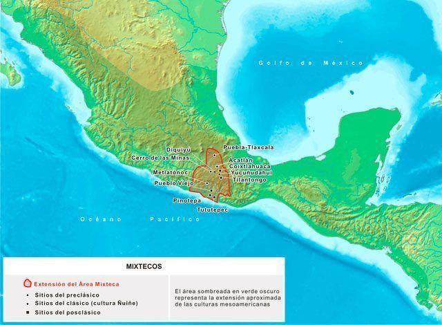 mapa cultura mixteca