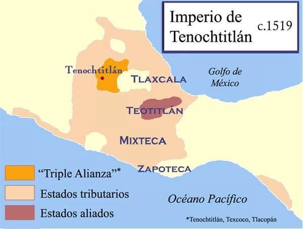 Mapa de la Triple Alianza