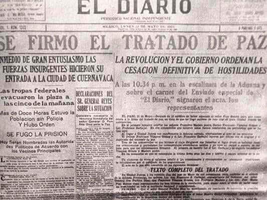 Noticia del Tratado de Ciudad Juárez