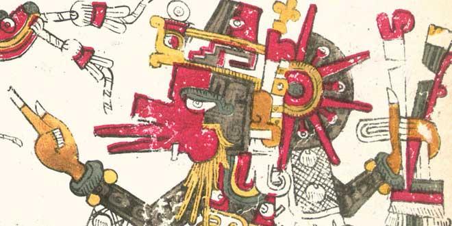 El dios Quetzalcoatl del Códice Borgia
