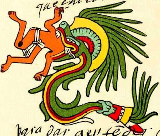 Quetzalcoatl en forma de serpiente