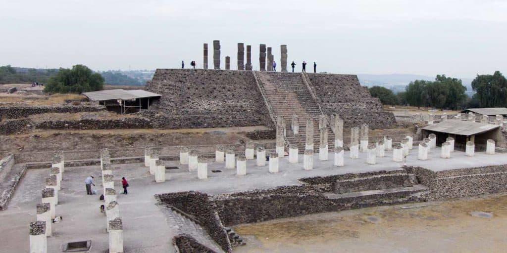Piramide B en Tula, cultura Tolteca